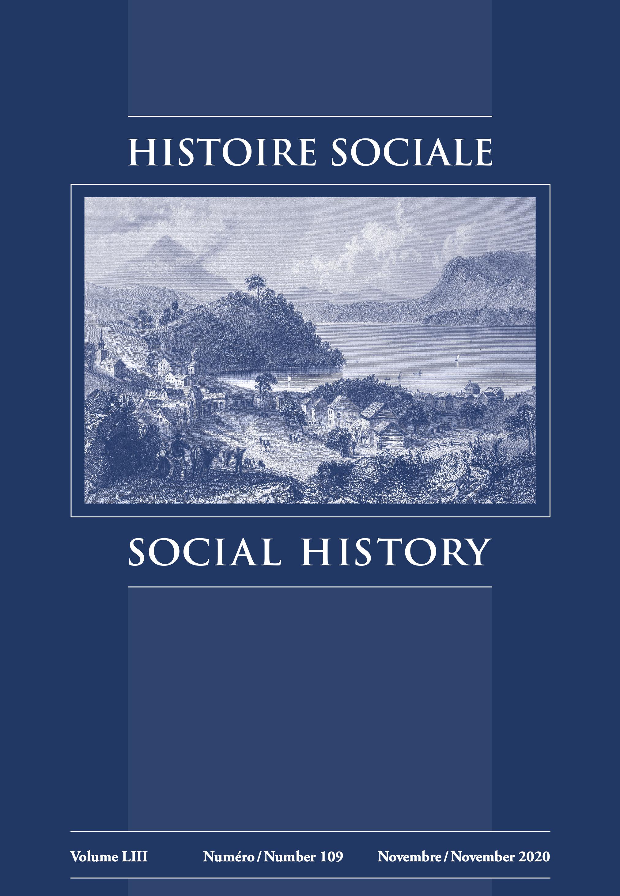 View Vol. 53 No. 109 (2020): Histoire sociale / Social History