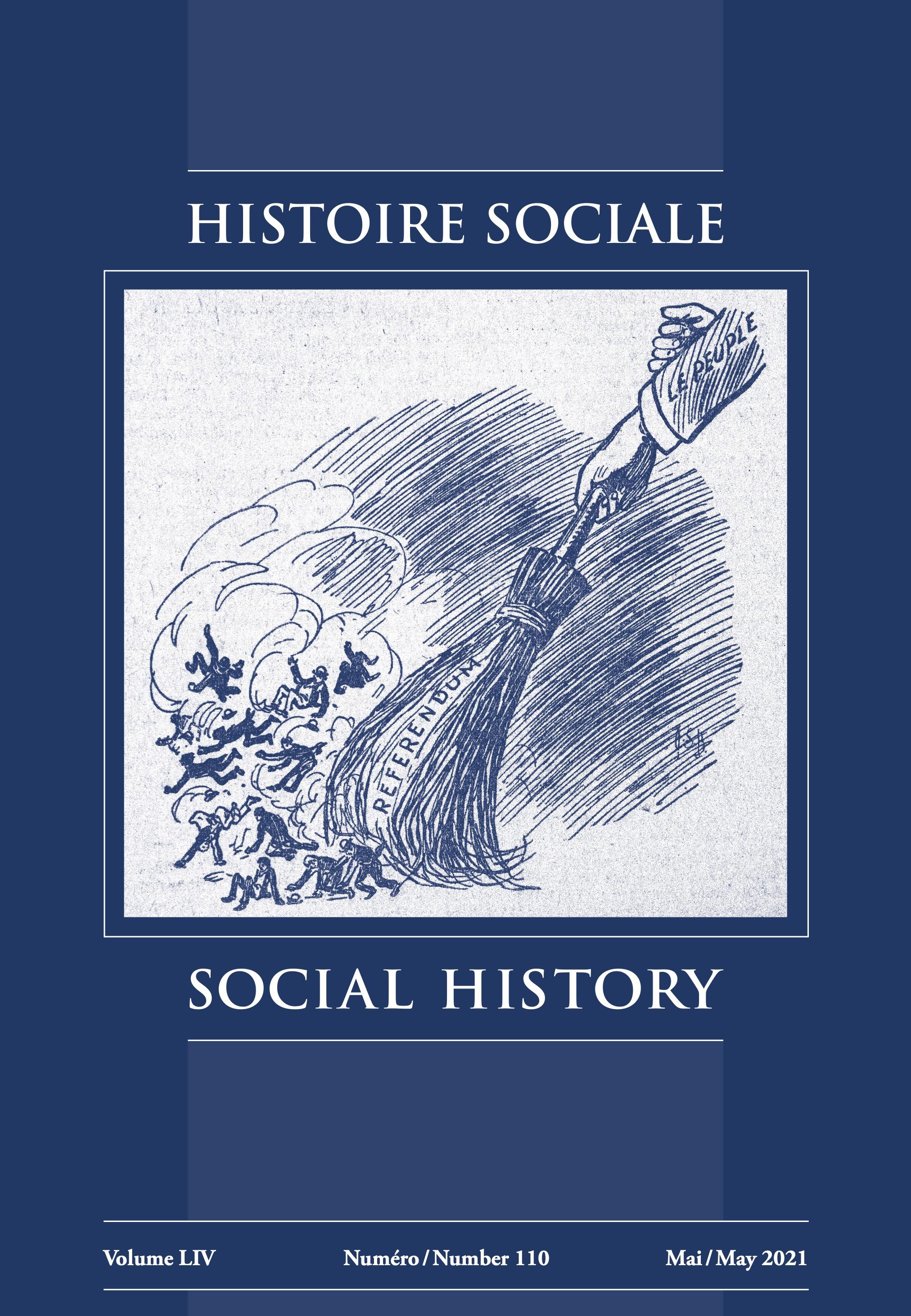 View Vol. 54 No. 110 (2021): Histoire sociale / Social History
